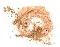Αποτελέστε τη σκόνη, που συντρίβεται στο λευκό στοκ φωτογραφίες με δικαίωμα ελεύθερης χρήσης