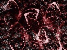 Αποτελέσματα θαμπάδων υποβάθρου σύστασης πεταλούδων Στοκ Φωτογραφίες