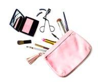 Αποτελέστε την τσάντα με τα καλλυντικά που απομονώνονται στοκ εικόνες με δικαίωμα ελεύθερης χρήσης