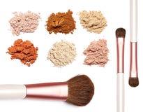 Αποτελέστε τη σκόνη το γλυκό χρώμα στο άσπρο υπόβαθρο Στοκ Φωτογραφία
