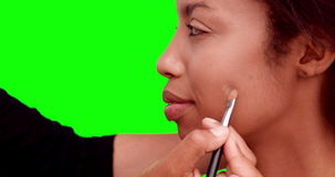 Αποτελέστε τον καλλιτέχνη που βάζει το ίδρυμα στο πρόσωπο προτύπων απόθεμα βίντεο