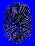 Αποτυπωμένο σε ανάγλυφο διανυσματικό δακτυλικό αποτύπωμα στοκ φωτογραφία