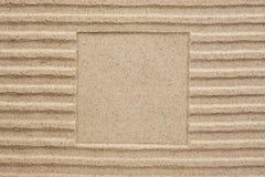 Αποτυπωμένο σε ανάγλυφο τετράγωνο στην άμμο στοκ φωτογραφία με δικαίωμα ελεύθερης χρήσης