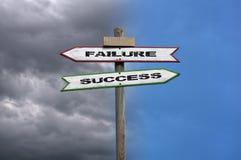 Αποτυχία, επιτυχία Στοκ Φωτογραφίες