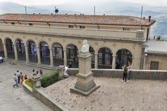 Αποτυχία του Giuseppe Garibaldi στο κεντρικό τετράγωνο στον Άγιο Μαρίνο Στοκ φωτογραφία με δικαίωμα ελεύθερης χρήσης