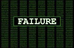 Αποτυχία υπολογιστών στοκ εικόνα