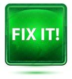 Αποτύπωση αυτό! Ανοικτό πράσινο τετραγωνικό κουμπί νέου ελεύθερη απεικόνιση δικαιώματος