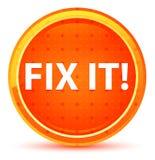 Αποτύπωση αυτό! Φυσικό πορτοκαλί στρογγυλό κουμπί διανυσματική απεικόνιση