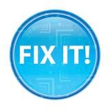 Αποτύπωση αυτό! floral μπλε στρογγυλό κουμπί διανυσματική απεικόνιση