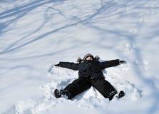Αποτύπωση του snowangel Στοκ φωτογραφία με δικαίωμα ελεύθερης χρήσης