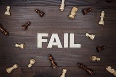 Αποτύχετε την έννοια στο ξύλινο υπόβαθρο στοκ εικόνα με δικαίωμα ελεύθερης χρήσης