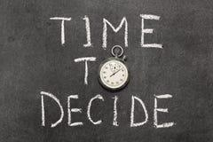 αποφασίστε το χρόνο στοκ εικόνα