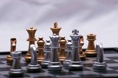 Αποφασιστικό παιχνίδι σκακιού Στοκ εικόνα με δικαίωμα ελεύθερης χρήσης