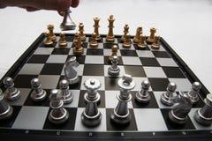 Αποφασιστικό παιχνίδι σκακιού Στοκ εικόνες με δικαίωμα ελεύθερης χρήσης