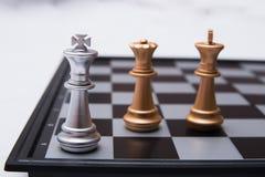 Αποφασιστικό παιχνίδι σκακιού Στοκ Φωτογραφία