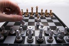 Αποφασιστικό παιχνίδι σκακιού Στοκ Φωτογραφίες