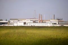 Αποφλοιώνοντας κτήριο εργοστασίων ρυζιού, γεωργία, βιομηχανίες Στοκ Εικόνα