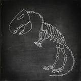 Απολίθωμα τυραννοσαύρων rex διανυσματική απεικόνιση