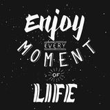 Απολαύστε κάθε στιγμή της ζωής Υποστήριξη στις δύσκολες περιόδους Στοκ Φωτογραφίες