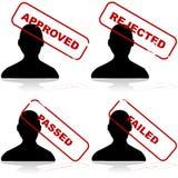 Αποδεκτός ή απορριφθείς απεικόνιση αποθεμάτων