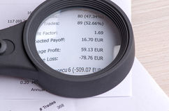 Αποδοχές από τις εμπορικές συναλλαγές στο χρηματιστήριο Στοκ Εικόνες