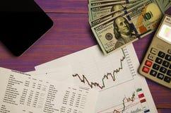 Αποδοχές από τις εμπορικές συναλλαγές στο χρηματιστήριο Στοκ Φωτογραφία