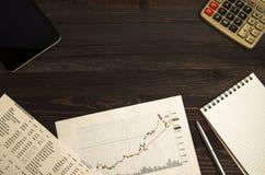 Αποδοχές από τις εμπορικές συναλλαγές στο χρηματιστήριο Στοκ εικόνες με δικαίωμα ελεύθερης χρήσης