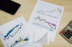 Αποδοχές από τις εμπορικές συναλλαγές στο χρηματιστήριο Στοκ Φωτογραφίες