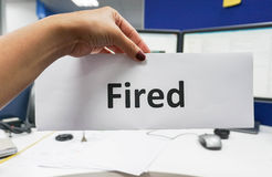 Απολυθείς υπάλληλος Στοκ φωτογραφία με δικαίωμα ελεύθερης χρήσης