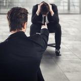 Απολυθείς φοβισμένος υπάλληλος Στοκ Φωτογραφίες