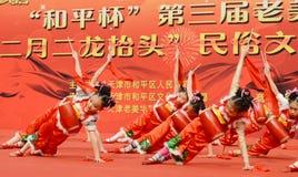 Αποδόσεις τυμπάνων της Κίνας Στοκ εικόνα με δικαίωμα ελεύθερης χρήσης