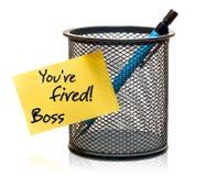 Απολύεστε! Στοκ εικόνα με δικαίωμα ελεύθερης χρήσης