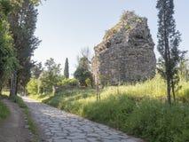 21 Απριλίου 2018 μέσω Appia, ο τρόπος Appian από Porta Appia, Στοκ φωτογραφία με δικαίωμα ελεύθερης χρήσης