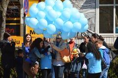 2 Απριλίου αυτισμός ημερών Στοκ εικόνα με δικαίωμα ελεύθερης χρήσης