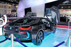 2 Απριλίου: Αυτοκίνητο καινοτομίας σειράς της BMW I8 Στοκ Εικόνες