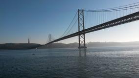 25 Απριλίου γέφυρα Στοκ Εικόνα