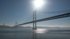 25 Απριλίου γέφυρα Στοκ Εικόνες