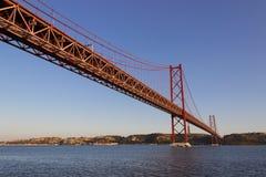 25 Απριλίου γέφυρα Στοκ εικόνα με δικαίωμα ελεύθερης χρήσης