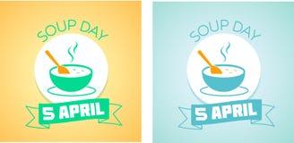 5 Απριλίου ημέρα σούπας Στοκ Εικόνες