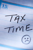 15 Απριλίου υπενθύμιση φορολογικού χρόνου Στοκ Εικόνες