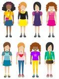 Απρόσωπες νέες κυρίες Στοκ Εικόνες