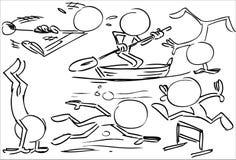 Απρόσωποι χαρακτήρες που παίζουν τον αθλητισμό διανυσματική απεικόνιση