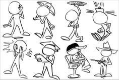 Απρόσωποι χαρακτήρες ελεύθερη απεικόνιση δικαιώματος