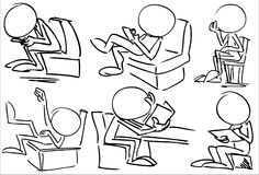 Απρόσωπο κάθισμα χαρακτήρων διανυσματική απεικόνιση