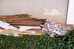 Απόβλητα κατασκευής Ένας σωρός των αποβλήτων κατασκευής, κινηματογράφηση σε πρώτο πλάνο Στοκ φωτογραφίες με δικαίωμα ελεύθερης χρήσης