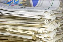 απόβλητα στοιβών εγγράφο&ups Στοκ εικόνα με δικαίωμα ελεύθερης χρήσης