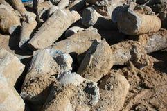 απόβλητα σωρών κατασκευή&s Στοκ εικόνα με δικαίωμα ελεύθερης χρήσης