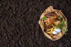 Απόβλητα τροφίμων λίπασμα από τα απόβλητα τροφίμων περιβαλλοντικός έλεγχος στοκ φωτογραφία με δικαίωμα ελεύθερης χρήσης