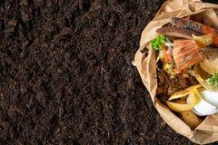 Απόβλητα τροφίμων λίπασμα από τα απόβλητα τροφίμων περιβαλλοντικός έλεγχος στοκ εικόνες με δικαίωμα ελεύθερης χρήσης