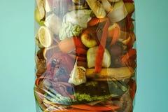 Απόβλητα τροφίμων Λιπασματοποιήσιμα απορρίματα τροφίμων στοκ εικόνες